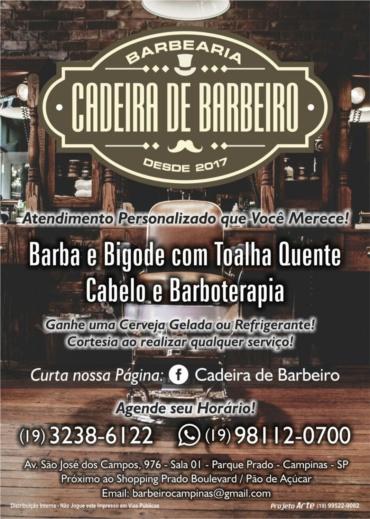 Panfleto Cadeira de barbeiro
