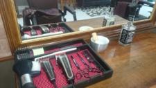 tesoura Cadeira de Barbeiro barbearia