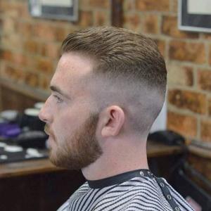 Combinado cabelo curto e degradê alto